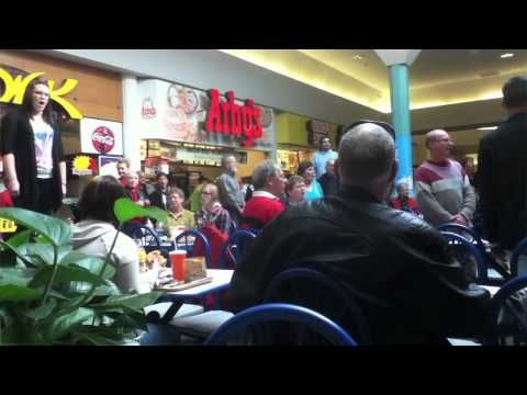 Video of christmas songs in mall