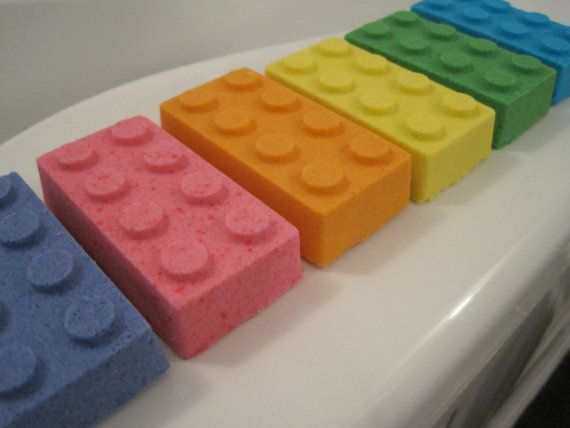 6 Lego Bath Bombers  kid friendly bath by BerwynBettysBathShop, $17.00