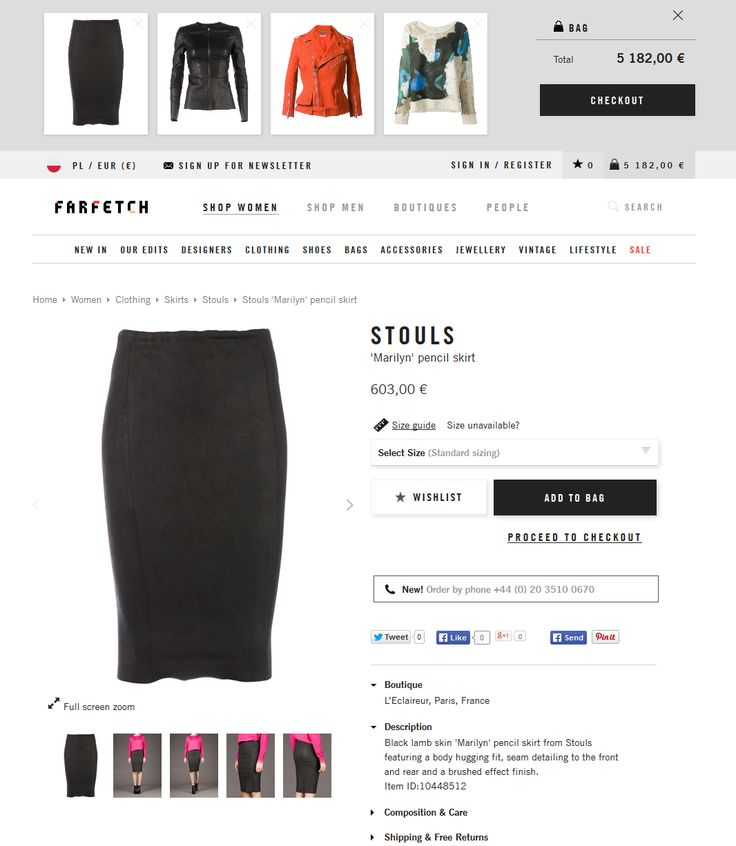 #UI #UX #cart #shopcart #cart #bag www.farfetch.com