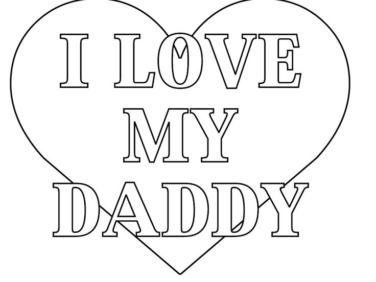 Valentine Coloring Pages For Dad Coloring Pages