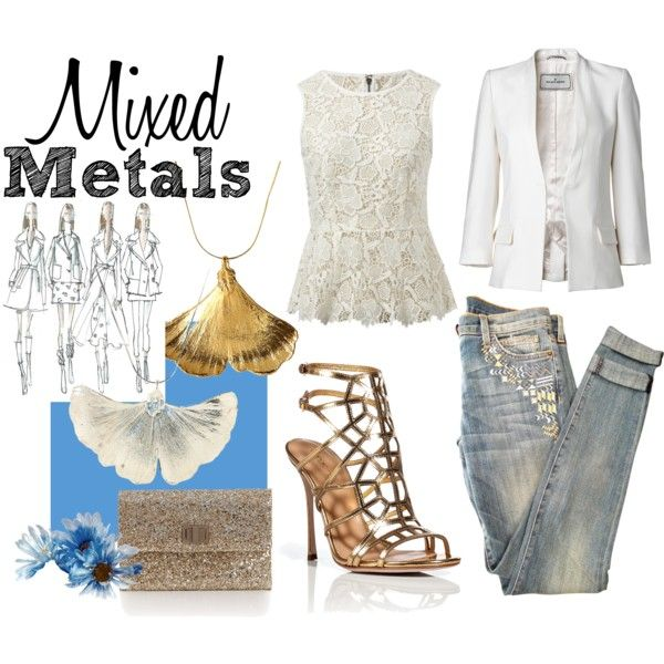 """Mixed Metals"" by mymagnifico.com on Polyvore"