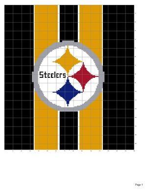 Pittsburgh Steelers afghan pattern