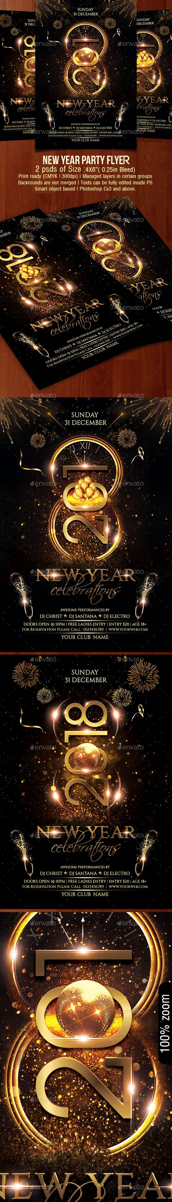 #New Year #Party #Flyer - Clubs & Parties Events