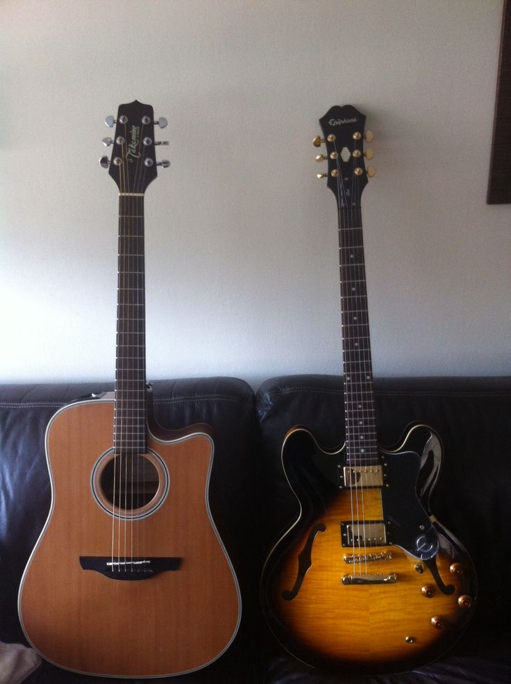 Takamine y Epiphone Dot Deluxe