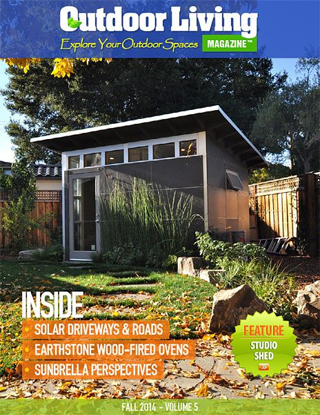 8 best images about studio shed in the news on pinterest for Outdoor living magazine