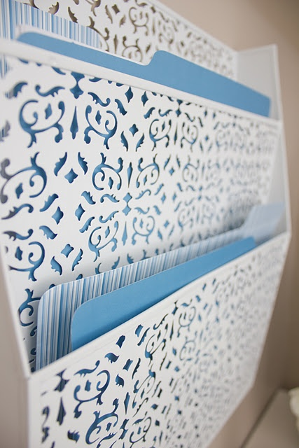 Gorgeous wall file organizer.  THAT'S what I need!  A wall file organizer!  Now I know!