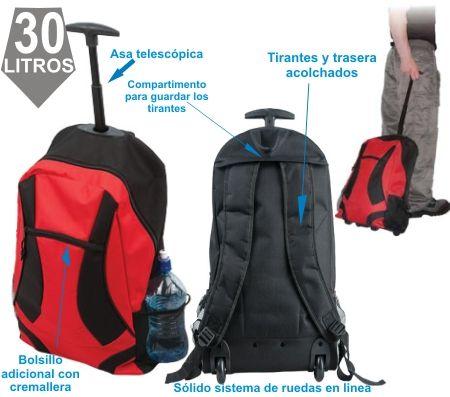 La mochila con ruedas 2 en 1 Trolley Backpack
