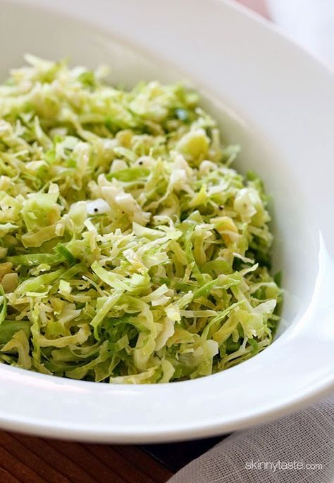 Brussels sprouts make a wonderful salad with shredded and tossed with olive oil and lemon juice.