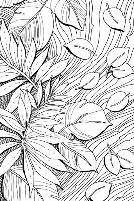 Examples of motif Free Sketch Graphic Design Pattern Jungle Tropical 5, Zentangle, Sketch Drawing