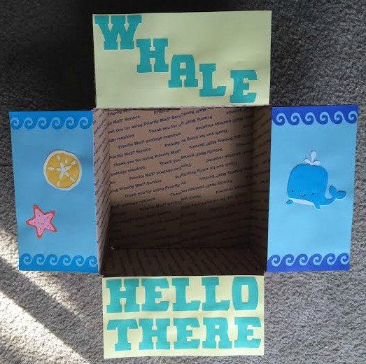 Whale Care Package Flaps by LoveFromHomePackages on Etsy