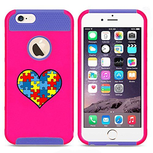 Apple iPhone 6 6s Shockproof Impact Hard Case Cover Heart Puzzle Autism Color Awareness (Hot Pink-Blue) Apple iPhone 6 6s Shockproof Impact Hard Case Cover Heart Puzzle Autism Color AwarenessDual layer, 2 piece case.High quality hard plastic outer shell ...  #6s #Apple #Autism #AutismAwareness #AutismHour #AutismInMyLife #AutismParents #AutismTMI #Autistic #Awareness #Case #Color #Cover #Hard #Heart #hot #Impact #iPhone #PinkBlue #Puzzle #Shockproof