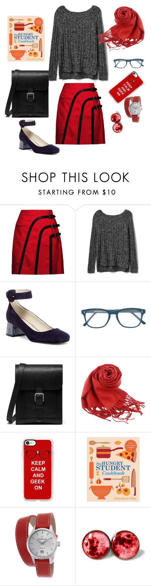 """""""Untitled #440"""" by maritabirken ❤ liked on Polyvore featuring J.W. Anderson, Gap, Nine West, Cutler and Gross, Mulberry, Casetify and Eterna"""