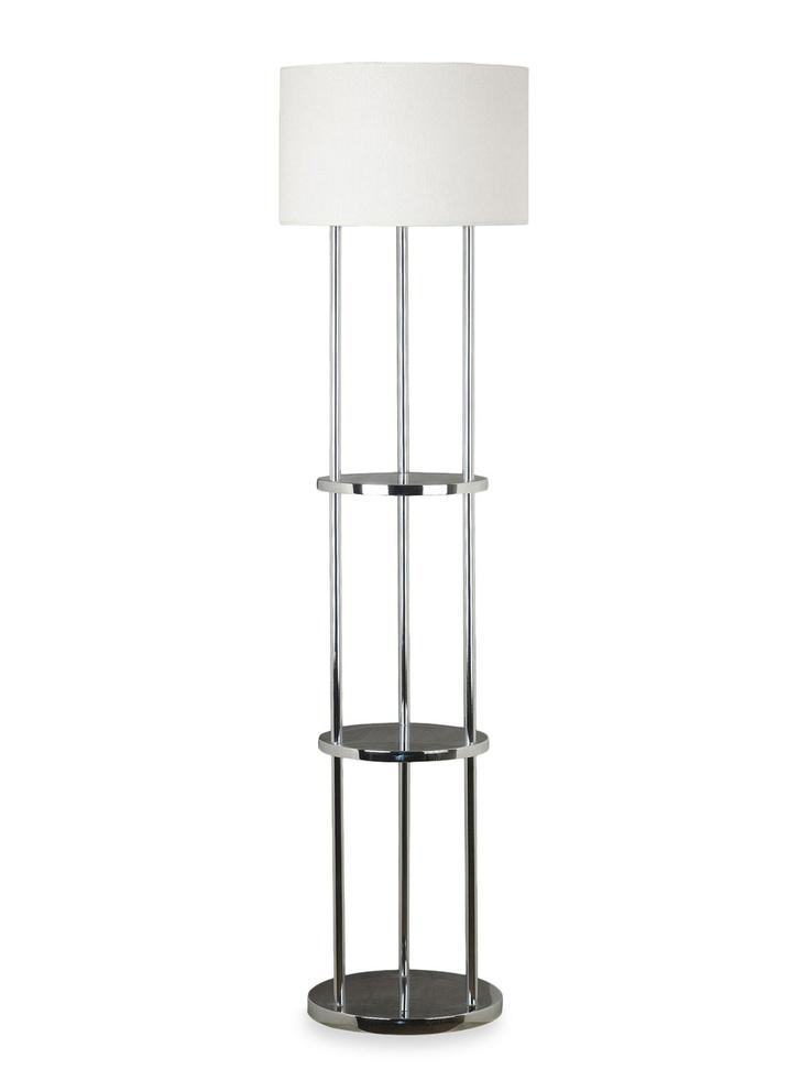 22 best floor lamp with shelves images on pinterest floor lamps standing lamps and floor. Black Bedroom Furniture Sets. Home Design Ideas