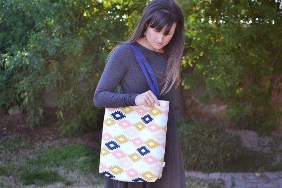 Cute tote for running errands with kids