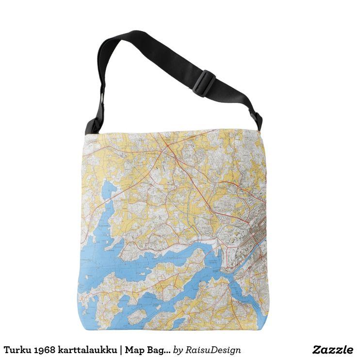 Turku 1968 karttalaukku | Map Bag w. Initial Tote Bag