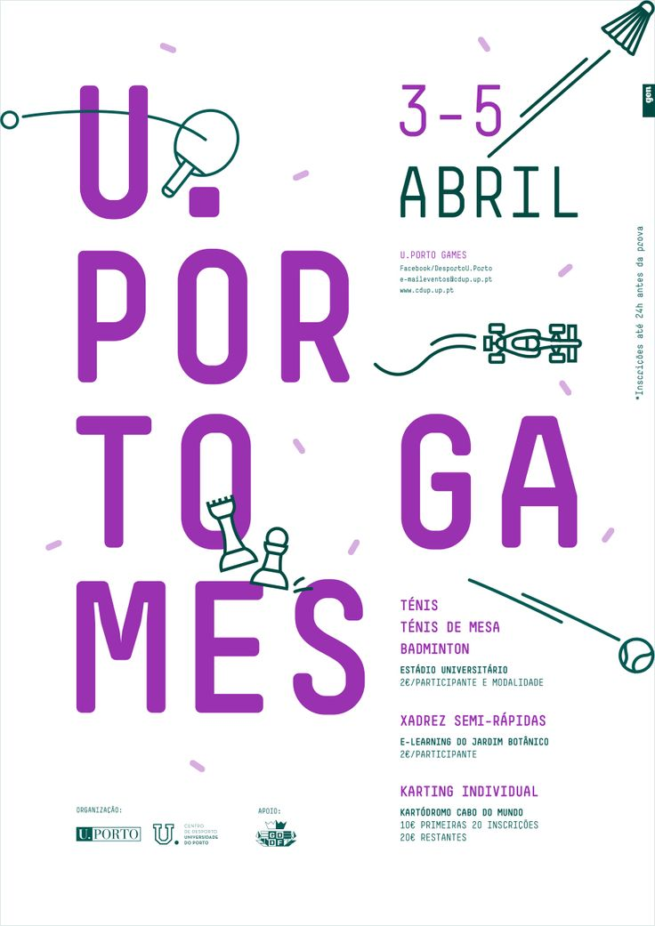 U.Porto Games event poster by Gen Design Studio.