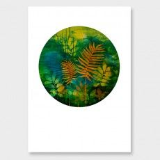 Lush Green Botanical Art Print by Rae West