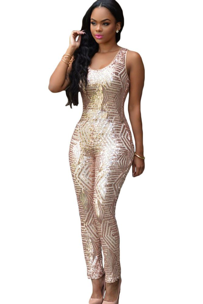 17 Best ideas about Sequin Jumpsuit on Pinterest | High waist ...