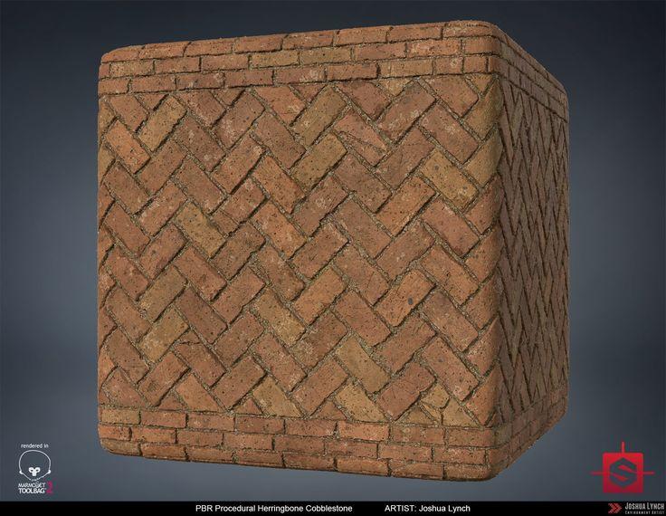 ArtStation - PBR Herringbone Cobblestone Material Study, Joshua Lynch