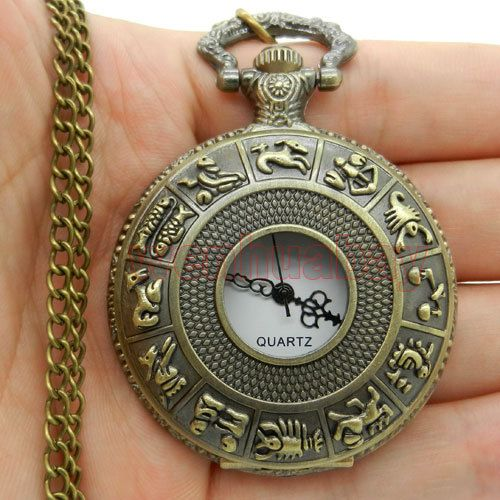 Dial 4.5 cm SteamPunk Style Constellation Zodiac Pocket Watch Pendant Necklace #>=#>=#>=#>=#> Click on the pin to check out discount price, color, size, shipping, etc. Save and like it!