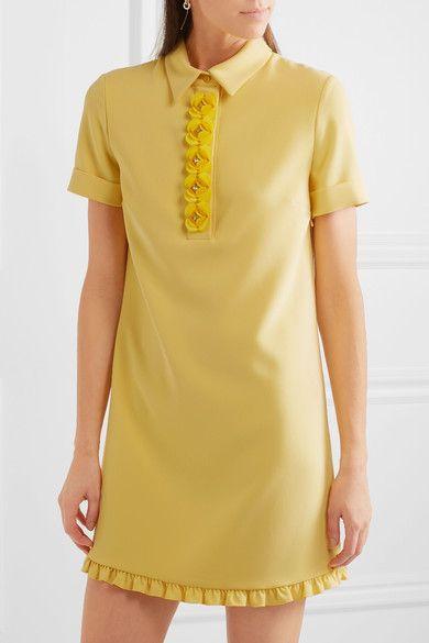 Boutique Moschino   Crystal-embellished appliquéd crepe mini dress   NET-A-PORTER.COM