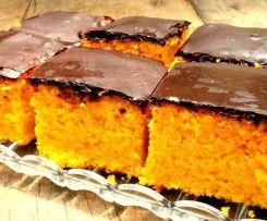Bizcocho de Zanahoria con cobertura de chocolate