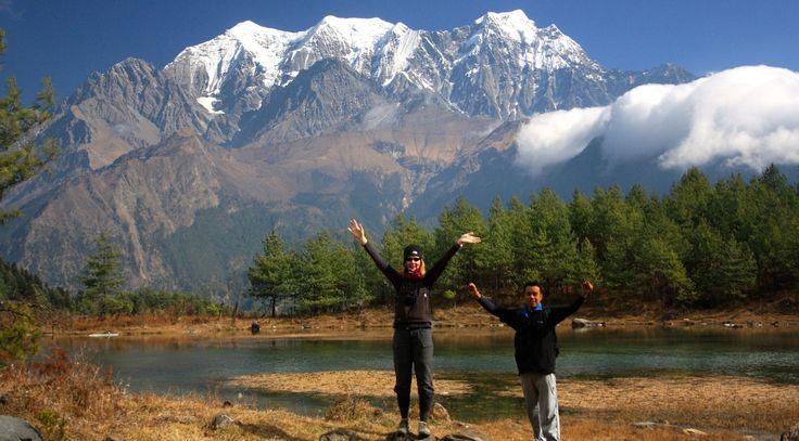 Nilgiris from Sekong Lake, Kali Gandaki Valley snowcattravel.com