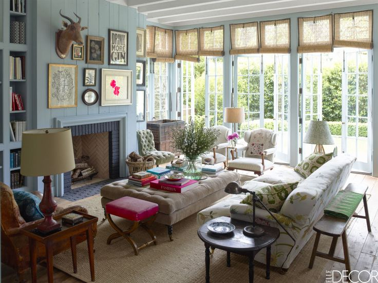 HOUSE TOUR: An Abandoned Summer Camp Becomes An Eclectic Family Home. Elle  DecorCalifornia ...
