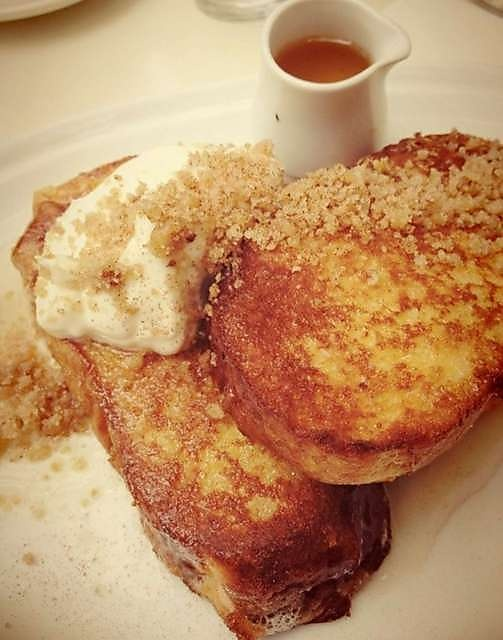 Baclava French Toast - Walnut praline, sweet yogurt and orange blossom syrup at Demitri's Feast