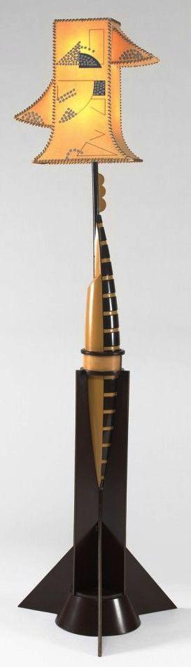EILEEN GRAY, Art Deco floor lamp, 1922, 73 in. high