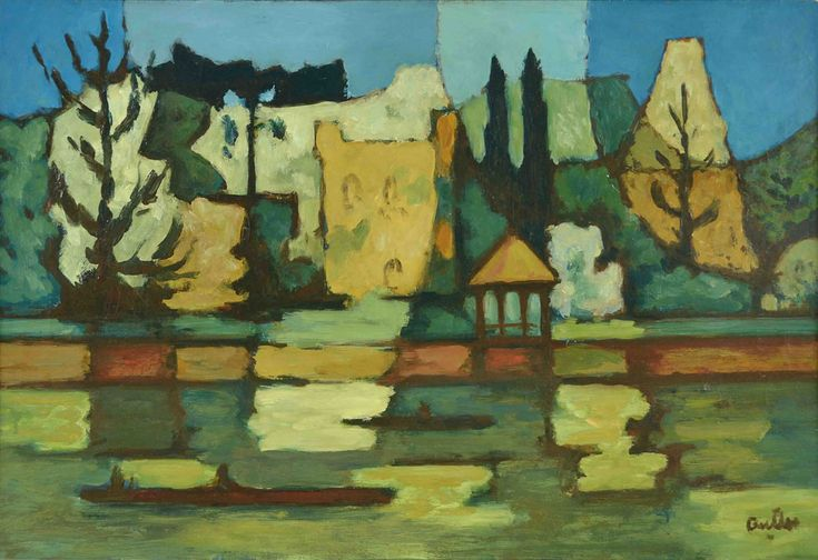 lawrenceleemagnuson:Horacio Alberto Butler (Argentina 1897-1983) Casa en el Tigre  oil on canvas 57 x 83cm