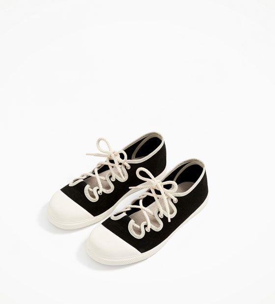 ZARA - KIDS - LACED PLIMSOLLS kids clothing, kids shoes, kids fashion