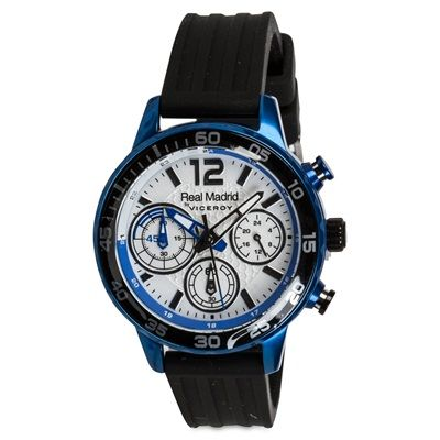 Image of Real Madrid Chronograph Stainless Steel Rubber Strap Watch