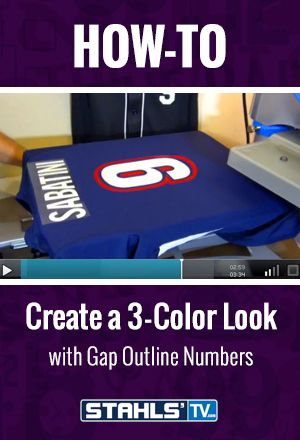 Don't like layering materials? You can still get that layered look of a three-color design using gap outline numbers with pre-cuts. STAHLS' TV Presenter, Joe Burt demonstrates how using gap outline numbers can help you achieve a layered effect. StahlsTV.com