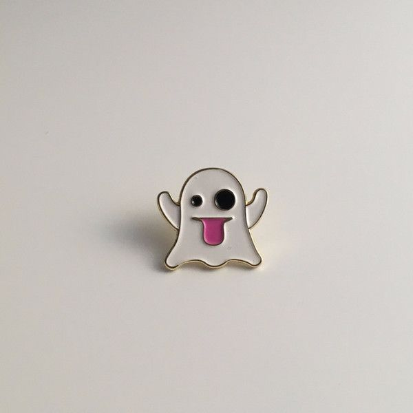 BOO! It's our favorite little sneaky ghost, the emoji scarer. Cause a fright, or just look super adorbs with this pin from Pindemic, based out of Singapore. 0.7