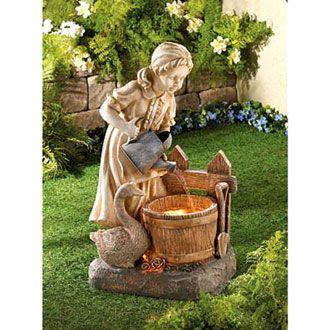Садовые фонтаны для дачи из полистоуна