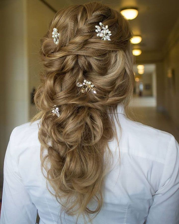 Love this hair down style by Hair & Makeup by Steph ~ we ❤ this! http://moncheribridals.com