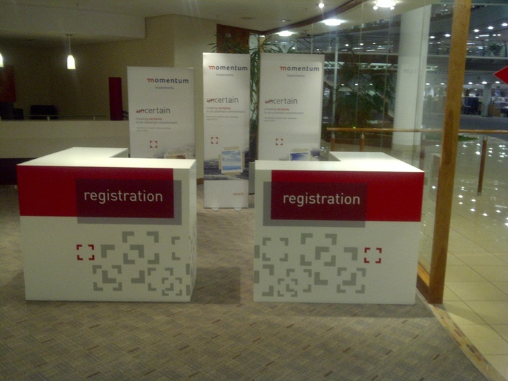 Registration Area for client conference #event #branding #pointofsale #rubyoriginal