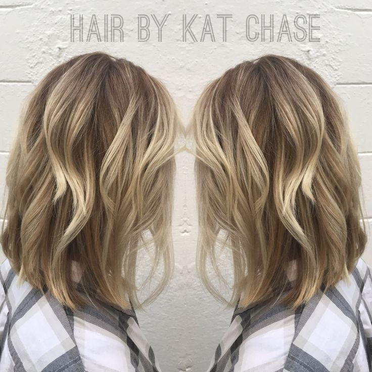 Ash Blonde Balayage Ombre With A Long Bob Haircolor And