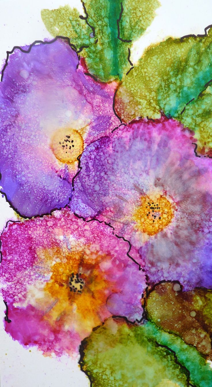 Color art printing anchorage - Alcohol Ink Art Print By Maure Bausch