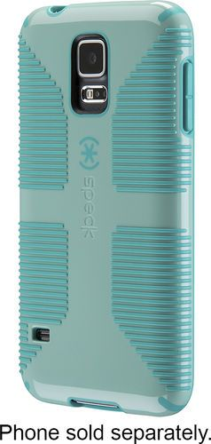 Speck - CandyShell Grip Case for Samsung Galaxy S 5 Cell Phones - Green/Blue #Speck