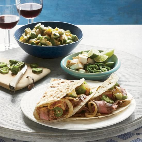 Grilled Steak Tacos with Avocado Salsa   An excellent way to reduce high blood pressure is to get enough potassium, found in foods like avocado and bananas. These grilled steak tacos by Gonzalo Martinez get their heat from an avocado-jalapeño salsa.