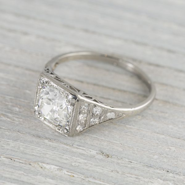 1.40 Carat Vintage Art Deco Engagement Ring | Erstwhile Jewelry Co.