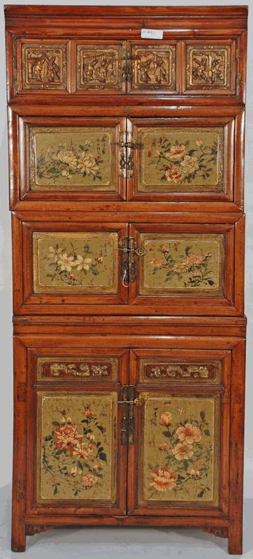 Antique Asian Furniture: Antique Chinese Stacking Traveling Chests from Jiangxi Province, China