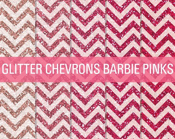 Glitter Chevron Textures Barbie Pink by SonyaDeHart on @creativemarket