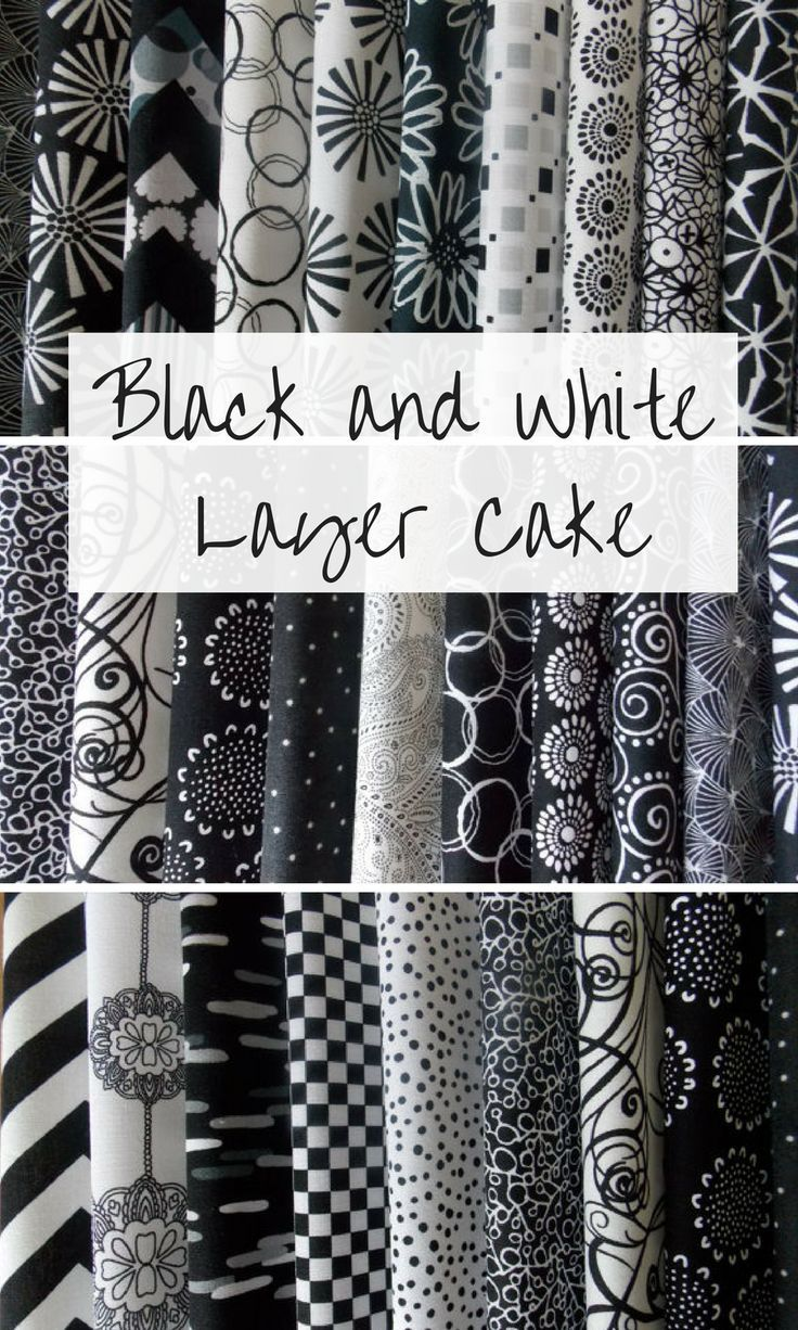 Black And White Fabric 40 Piece 10 Squares Layer Cake Quilt Fabric 100 Cotton Quilts Layercake Af Black And White Fabric Layer Cake Quilts Quilt Fabric