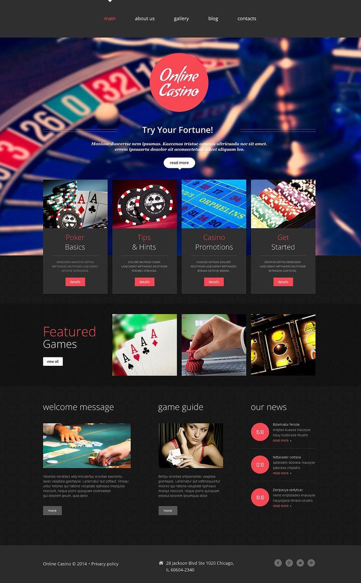 Web Casino Website Template New Screenshots BIG