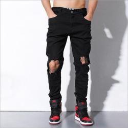 ELLINGTON Men's Black Ripped Jeans