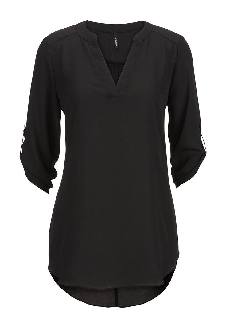 chiffon v-neck tunic top - maurices.com    medium