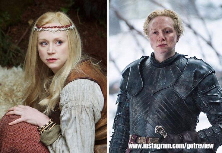 Gwendoline Christie As Lexi (In 2012's Wizards Vs. Aliens) And As Brienne Of Tarth (In GoT)  #gameofthrones #lanesters #jonsnow #petyrbaelish #littlefinger #aryastark #sansastark #branstark #varys #jontargaryen #aegontargaryen #ygritte #daenerys #daenerystargaryen #gotmemes #gameofthronesmemes #gameofthronesfamily #gameofthroneshbo #got